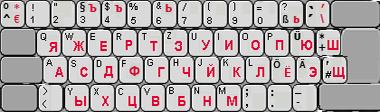 Russisch / deutsche Tastatur